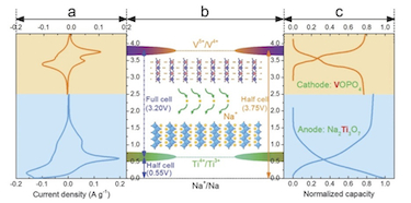 The battery's electrochemical characteristics