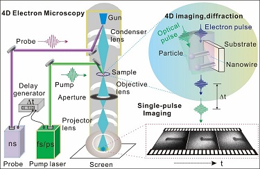 4D electron microscopy
