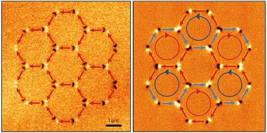 Magnetic force microscopy images showing an ASI kagome rosette.