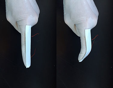 A flexible biosensor made from carbon nanotubes can record the motion of a finger