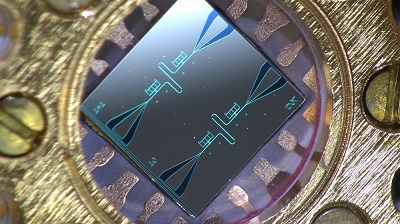 Image of the silicon chip with quantum-circuit refrigerators