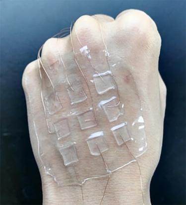 A transparent electronic skin for tactile sensing