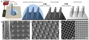 Electrodeposition of materials on micro/nanowires