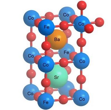 Schematic image of the structure of a perovskite. (Graphics: Paul Scherrer Institute/Emiliana Fabbri.)