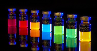 Lighting the way. Samples of Nanoco's colourful cadmium-free quantum dots. Credit: Nanoco.