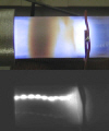 Silicon nanocrystals made easy: image of filamentary plasma