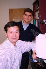 Researchers watch water inside nanotubes: paper authors Haihui Ye and Yury Gogotsi