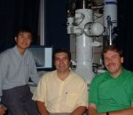 From left: graduate student Yong Zhu, Professor H D Espinosa and research professor N Moldovan of Northwestern University.