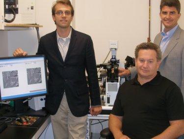 (from left to right) David Staack, Gary Friedman and Yury Gogotsi