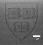 Harvard logo in graphene