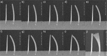 Bending nanopillars