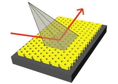 Micrographs showing the nanopillars