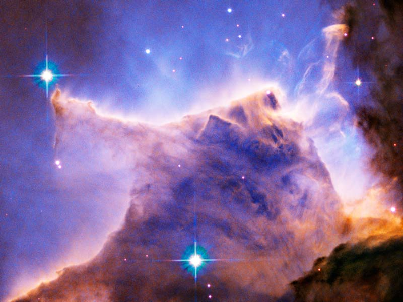 The Eagle Nebula (M16) as seen by the Hubble Space Telescope. (Image courtesy NASA).