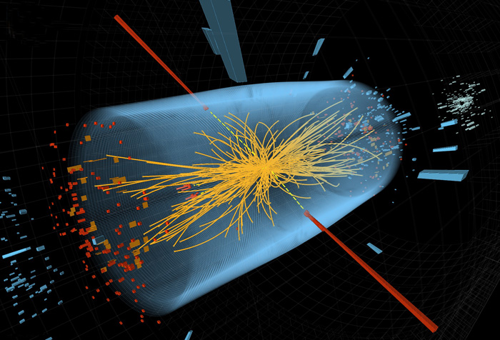 One of many proton–proton collisions at cms
