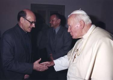 Michael Heller and Pope John Paul II