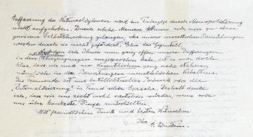 Einstein's letter to Eric Gutkind