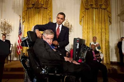 Hawking honoured at the White House