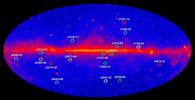Fermi helps find 17 new millisecond pulsars