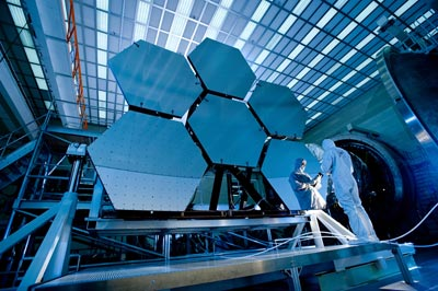Primary mirror of the James Webb Space Telescope