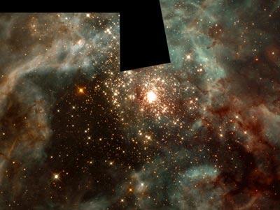 Telescope image of 30 Doradus