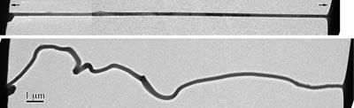TEM images of the nanobattery