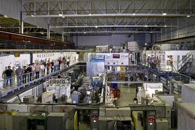 Photograph taken inside the antihydrogen facility at CERN