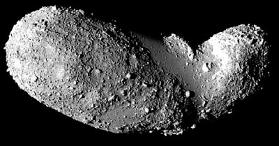 Dusty body: the asteroid 25143 Itokawa