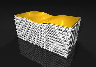 "3-D invisibility cloak hides gold ""bump"""