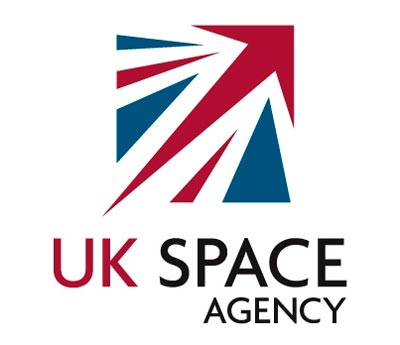 The new logo for the UK Space Agency