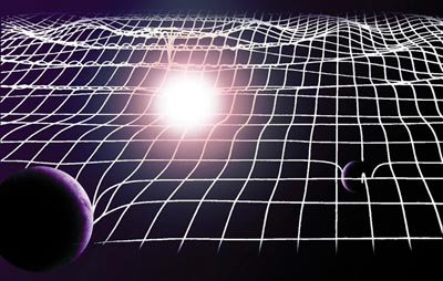 Gravitational waves are like ripples in the fabric of space-time
