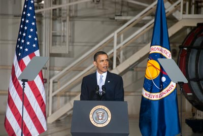 US President Barack Obama outlines his vision for NASA