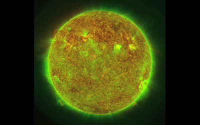 Tracking the Sun's surface at 10 different wavelengths