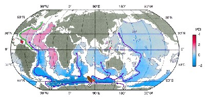 Map showing the formation of Antarctic Bottom Water