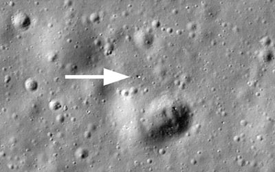 A lost Russian rover is found. (Courtesy: NASA/Goddard/Arizona State University)