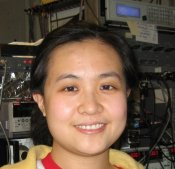 Princeton's Dongxia Qu in the lab