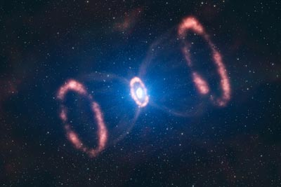 Artist's impression of the supernova explosion