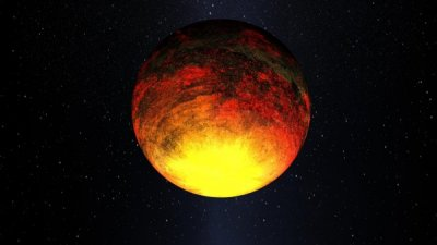 Artist's impression of Kepler-10b