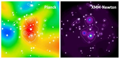Planck and X-ray data of a massive galaxy cluster