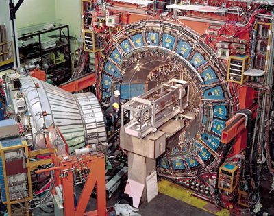 Photo of the CDF detector at Fermilab