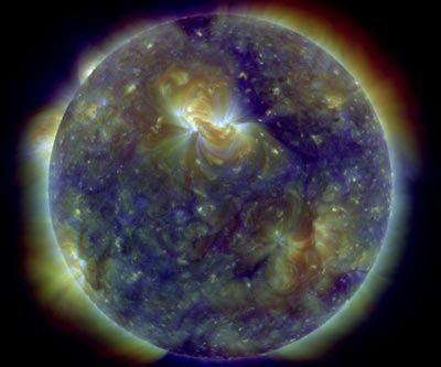 Extreme ultraviolet image of the Sun