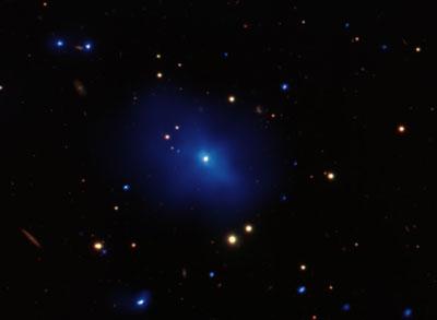 NASA image of a quasar