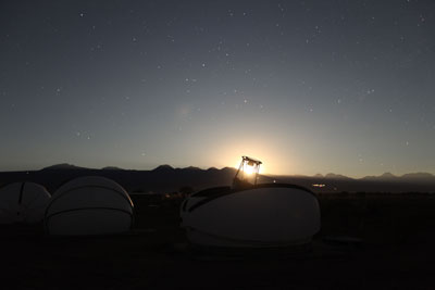 Photo of the Caisey Harlingten telescope at San Pedro de Atacama, Chile