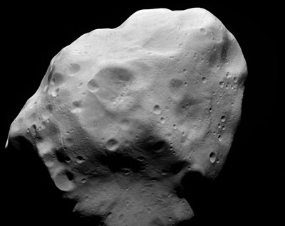 Image of 21 Lutetia taken by Rosetta