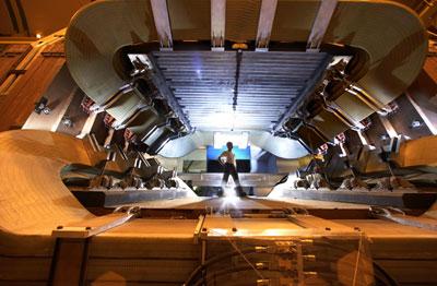 A photograph of LHCb