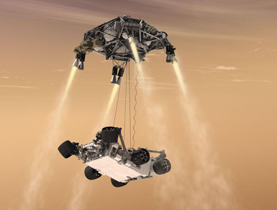 Curiosity and the sky crane
