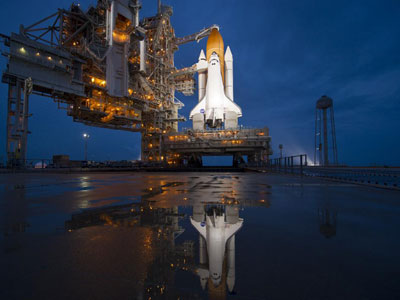 The space shuttle <i>Atlantis</i> takes off for the last time