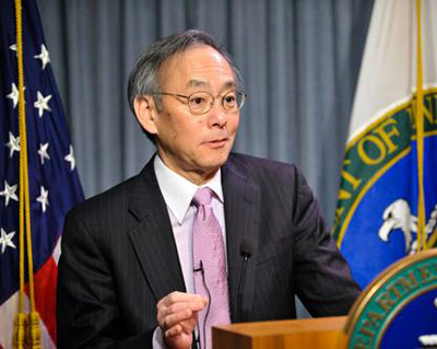 Photograph of US energy secretary Steven Chu