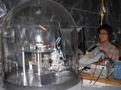 Photograph of the thermal Casimir force experiment