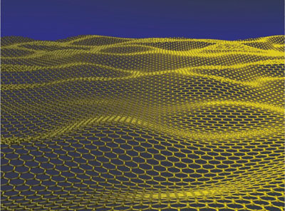 Artist's impression of rippled graphene