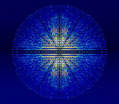 3D rendering of X-ray diffraction data